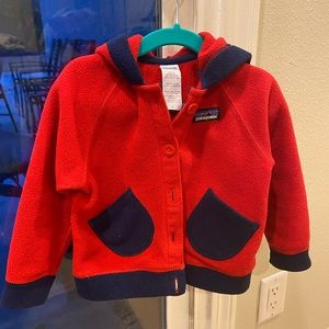 Patagonia swirly fleece jacket hooded size 2T